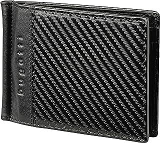 Bugatti Comet Portafoglio Uomo con Fermasoldi Pelle 6CC, Porta Carte di Credito, Portafogli Slim Formato Orizzontale - Nero