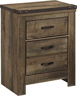 Ashley Trinell Two Drawer Nightstand in Brown