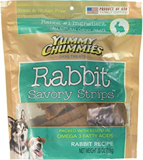 Yummy Chummies ALL NATURAL Rabbit Savory Strips Grain & Gluten Free Made in the USA