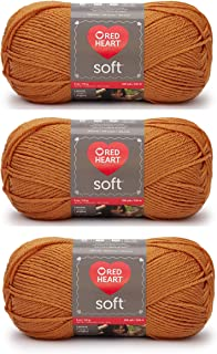 Red Heart Soft Yarn 3-Pack Tangerine