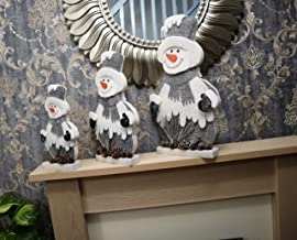 SHATCHI Latest Design Christmas Table Top Figures Window Wall Door Holiday Home Xmas Glitter Foam Showpiece Decorations, G...