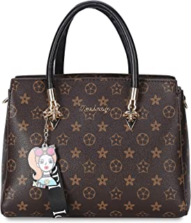BAIGIO Women PU Leather Tops Handle Handbags Designer Shoulder Bags Crossbody Fashion Printing Purses