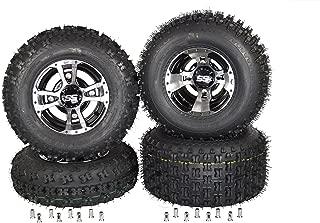 SET 4 Yamaha Banshee 350 (1987-2006) & Raptor 700 (2006-Present) Machine ITP SS112 Rims & MASSFX Tires Wheels kit rims