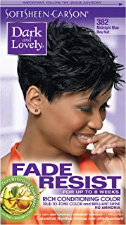 Permanent Hair Color by Dark and Lovely Fade Resist I Up to 100% Gray Coverage Hair Dye I Midnight Blue 382 I SoftSheen-Carson I Packaging May Vary