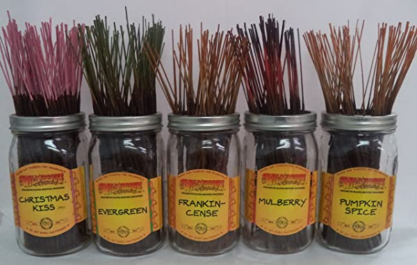 Wildberry Incense Sticks Christmas Scents Set 3 4 Sticks Each Of 5 Scents Total 20 Sticks