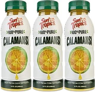 Sun Tropics 100% Pure Calamansi Juice, 10 Oz, 3Count, Not From Concentrate, Citrus Juice