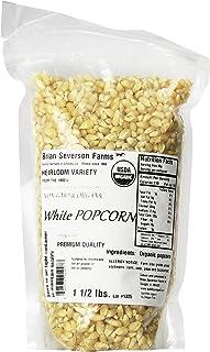 Organic White Popcorn, Heirloom variety, Penn. Dutch Butter Flavored, non-GMO, Farmer Direct, 1 1/2 lbs.
