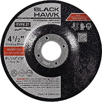1//4 in Thick 5//8 Arbor Hardness Grade N 60 Pack Depressed Center Wheel 4 1//2 in Dia