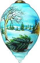 "Ne'Qwa Art Ne'Qwa Art, Bringing Home The Tree"" Artist Betty Padden, Princess-Shaped Glass Ornament, 7159901"