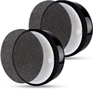 Flintar 2 Packs of High Efficiency 3-in-1 H13 Medical Grade True HEPA Replacement Filter, Compatible with LEVOIT LV-H132 Air Purifier, Part Number LV-H132-RF