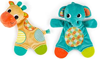 Bright Starts Snuggle & Teethe Toy (One toy, style may vary)