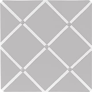 Sweet Jojo Designs Solid Grey Fabric Memory/Memo Photo Bulletin Board