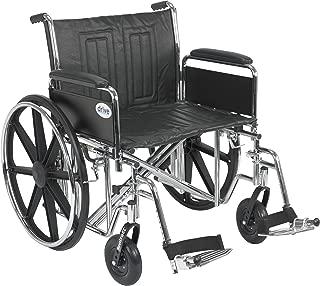 "Drive Medical Sentra Ec Heavy-duty Wheelchair,detach Full Arm,swing Away Footrests,24"",1 Ea 1 count"