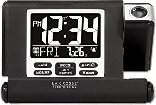 La Crosse Technology 616A-1908 Travel Projection Alarm with Fold Out Stand