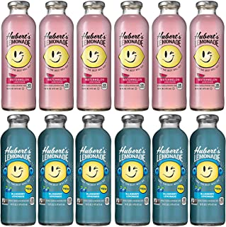 LUV-BOX Variety HUBERT'S Lemonade Juice pack of 12 , 16fl oz , Watermelon, Blueberry