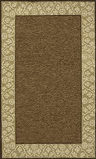 Momeni Rugs Veranda Collection, Contemporary Indoor & Outdoor Area Rug, Easy to Clean, UV protected & Fade Resistant, 2' x 3', Mocha Brown
