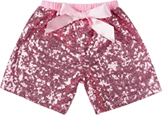 pink sequin shorts