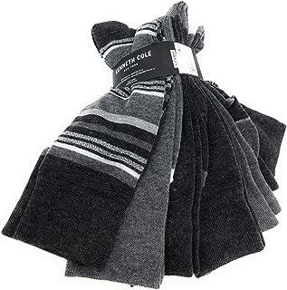 mens Basic Rib Dress Crew Socks, Multipack, 6 Pack
