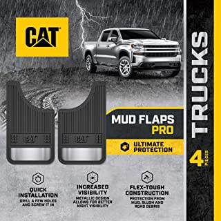 Ultra Tough Mud Flaps for Cars and Trucks - Heavy Duty Splash Guard Fenders with Night Reflectors (4 pcs for Front/Rear Ti...