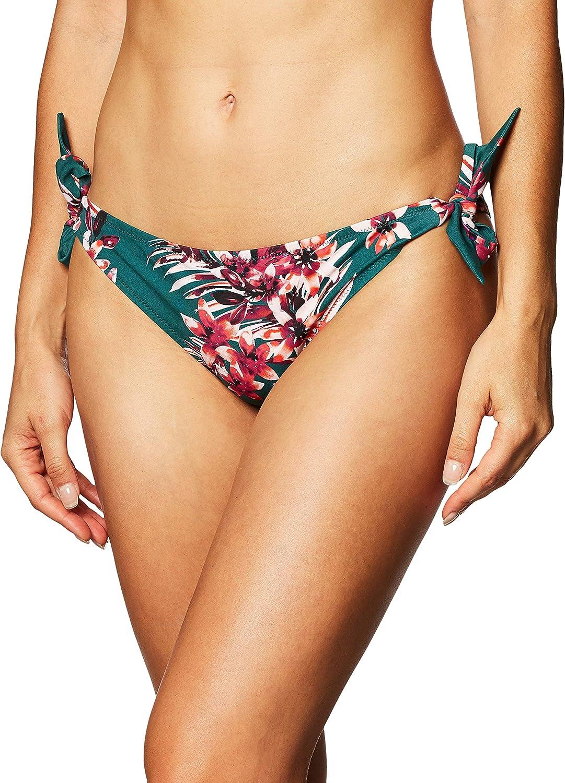 Amazon Brand - Iris & Lilly Women's Tropical Print Side-bow Bikini Bottoms