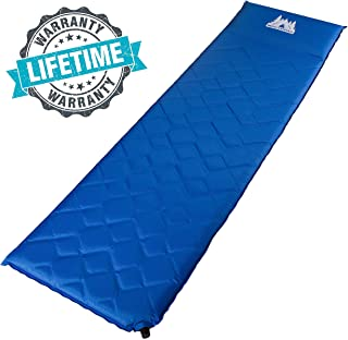 Self Inflating Sleeping Pad - High Insulation Foam Lightweight Camping Mattress for Backpacking and Hiking