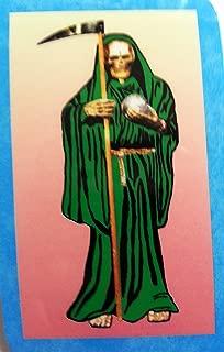 Holy Death Green Prayer Card in Spanish. Estampa Y Oracion De La Santa Muerte Verde En Español. (Holy Death