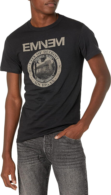 Bravado Men's Eminem Detroit Seal T-Shirt