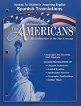 McDougal Littell The Americans: Access for Students Acquiring English: Spanish Translations Grades 9-12 (Spanish Edition)