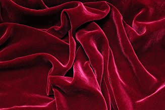 "100% SILK RAYON VELVET SOLID FABRIC 45""W CLOTHING,DRAPERY,DRESSES 30 COLOR BY THE YARD (BERRY)"