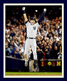 Derek Jeter Final Game Winning Hit At Yankee Stadium 11x14 Double Matted 8x10 Photo Last Hit At Bat