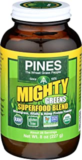 Pines International Mighty Greens Superfood Blend Powder Organic, 8 Ounce