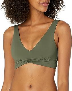 Seafolly Women's V Neck Crop Top Bikini