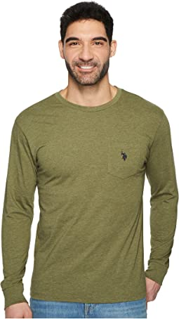 Long Sleeve Crew Neck Pocket T-Shirt