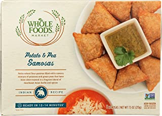 Whole Foods Market, Potato & Pea Samosas, 7.5 oz (Frozen)