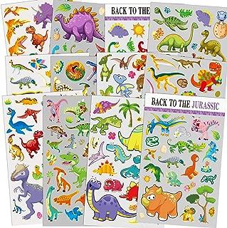 HORIECHALY 12 Sheets Dinosaur Stickers, 260 Different Dinosaurs for Boys, Kids, Teacher, Parent, Grandparent, Kids Craft, Party Favors, Scrapbook Making, Reward Stickers