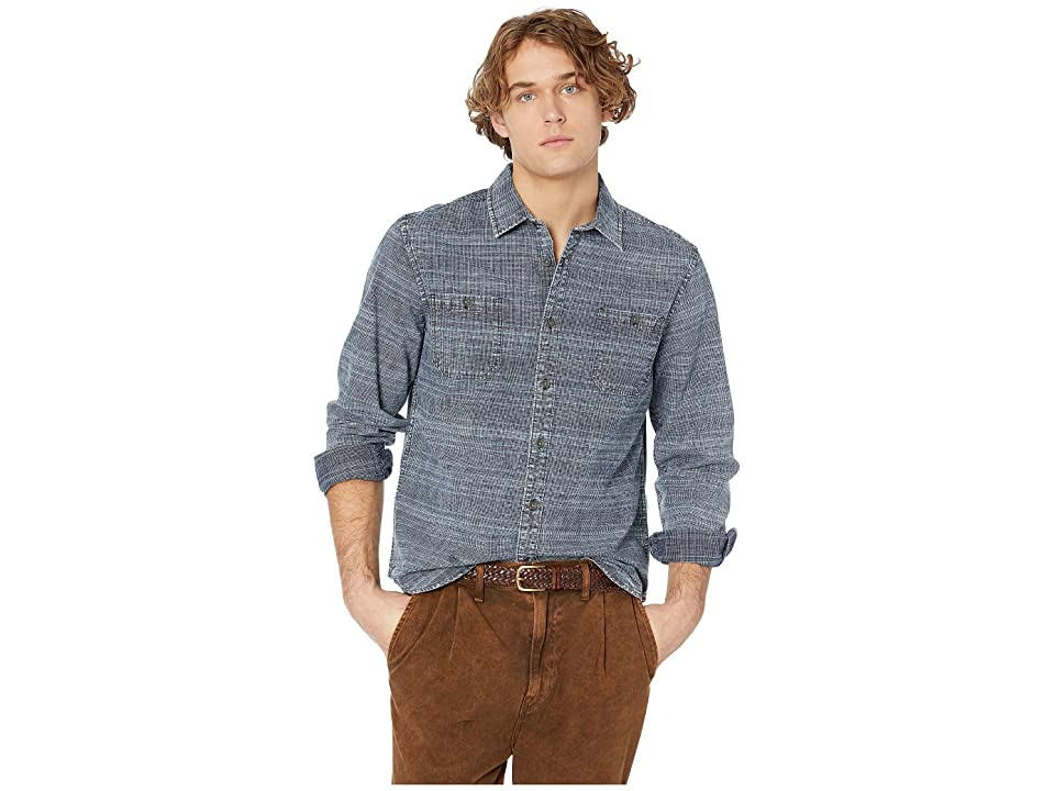 VISSLA Lacerations Flannel Shirt (Dark Naval) Men