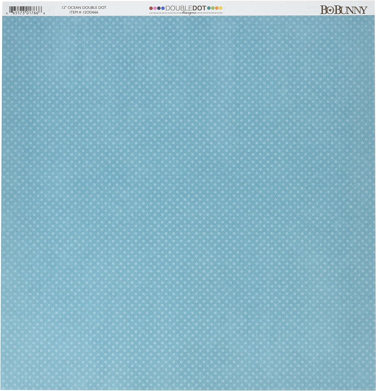 BoBunny Double Dot Double-Sided Texturot Cardstock 12 X12 -Ocean B001VNEGC8   Primäre Qualität