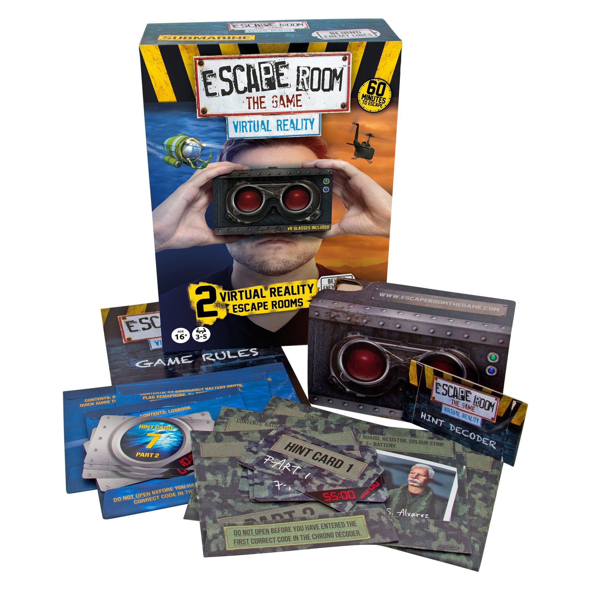 Identity Games Escape habitación la edición Virtual Juego Realidad Paquete Dos Aventuras de RV Escapar habitación Nueva expansión: Amazon.es: Juguetes y juegos