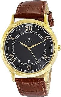 ساعة كاريشما بمينا اسود وعرض انالوج للرجال من تيتان