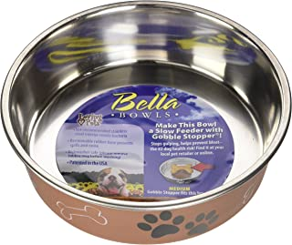 Loving Pets Metallic Bella Bowl, Medium, Copper