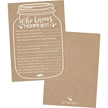 Amazon Com 25 Rustic Mason Jar Baby Shower Games Ideas For Boys Or Girls Fun Party Activities Who Knows Mommy Best Gender Neutral Reveal New Parent Guessing Funny Questions Pack Kids Mom