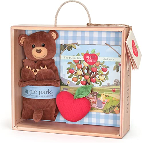 Precio por piso Apple Park Blankie Book and Rattle Gift Gift Gift Crate, Cubby by Apple Park  40% de descuento