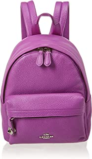 Womens Polished Pebble Leather Mini Campus Backpack