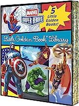 Marvel Little Golden Book Library (Marvel Super Heroes): Spider-Man; Hulk; Iron Man; Captain America; The Avengers