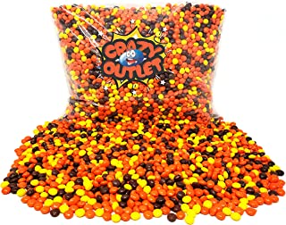 CrazyOutlet Pack - Reese's Pieces Mini Peanut Butter Candy, Bulk Baking Chips, 3 lbs