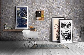 Store2508 Textured Grey Rock Design Self Adhesive Sticker Wallpaper (Silver, 0.53 x 5 Metres, 28.5 Square Feet)