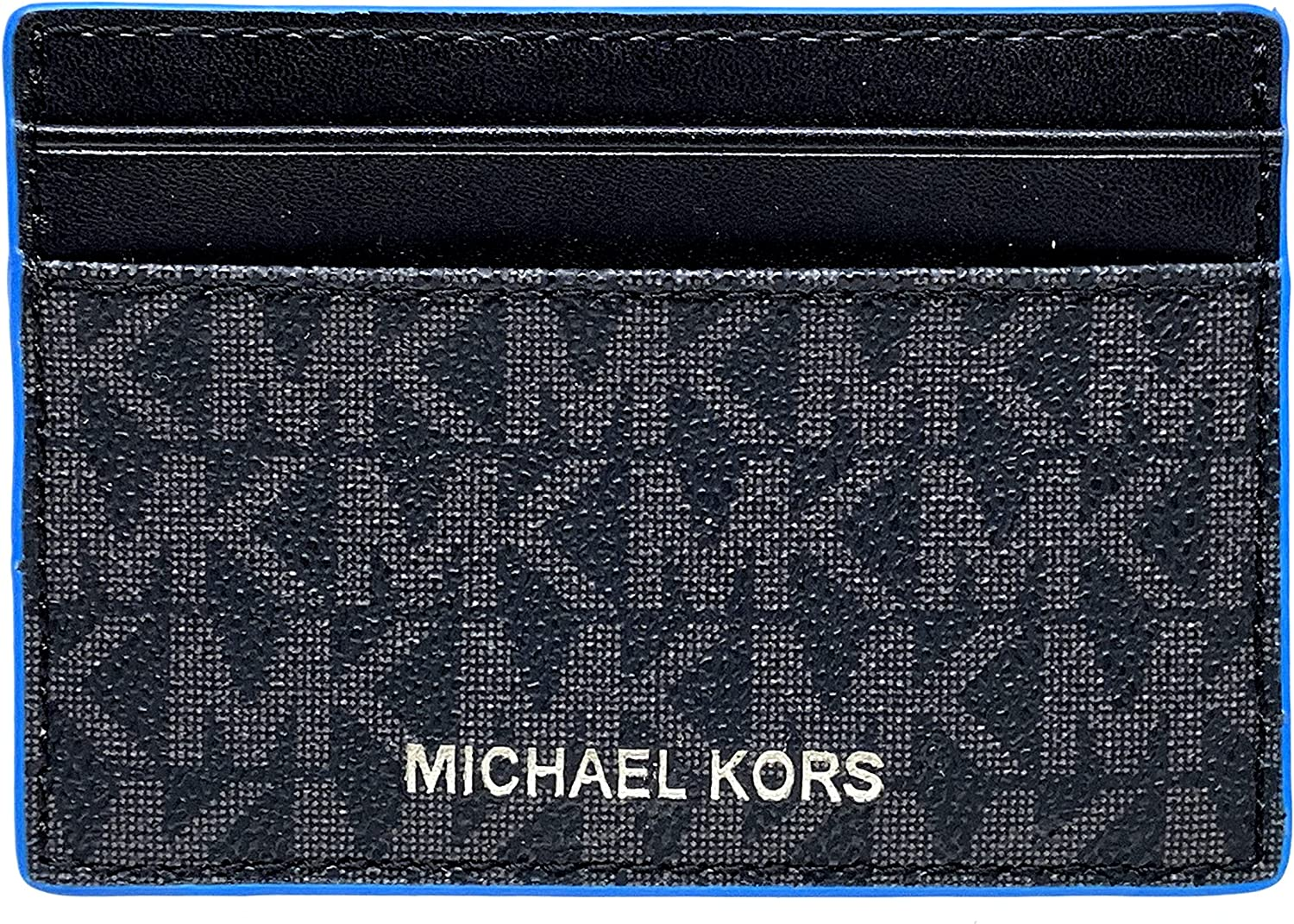 Michael Kors Gifting Card Case with - ID Pop Black Blue Max 44% OFF Brand Cheap Sale Venue