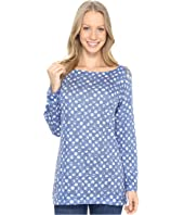 Nally & Millie - Blue & White Polka Dot Tunic