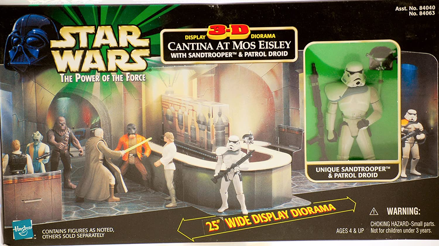 Hasbro Star Wars  Power of the Force   Cantina 3D Display Diorama with Sandtrooper & Patrol Droid