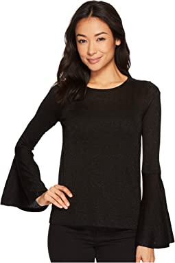 Vince Camuto Specialty Size - Petite Bell Sleeve Lurex Sweater